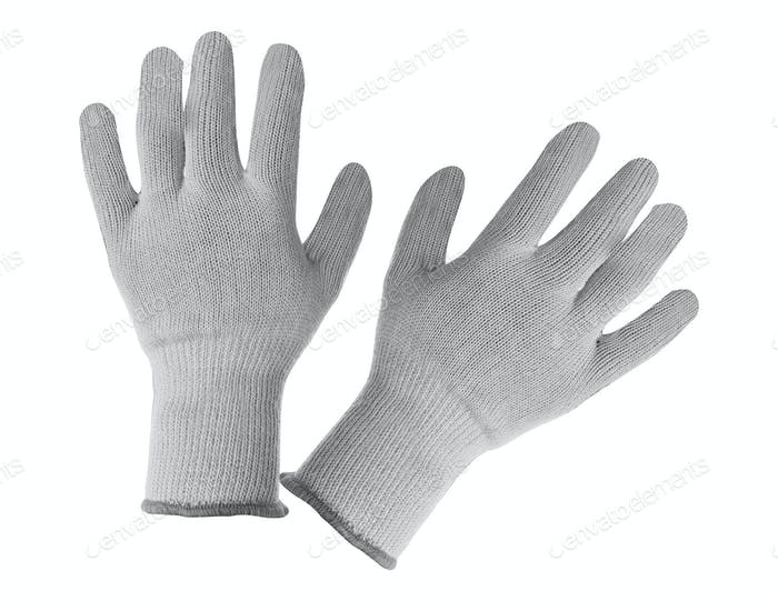 work gloves isolated on white