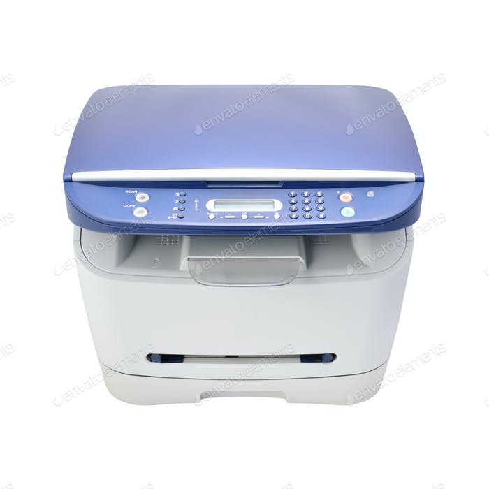 Laser printer isolated on white
