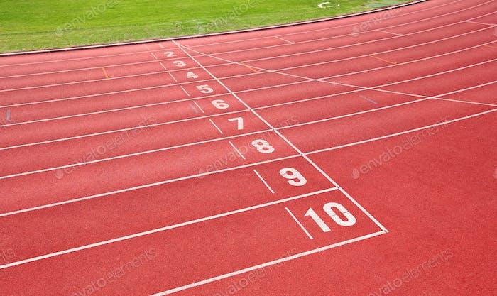 Laufstrecke für Sportler