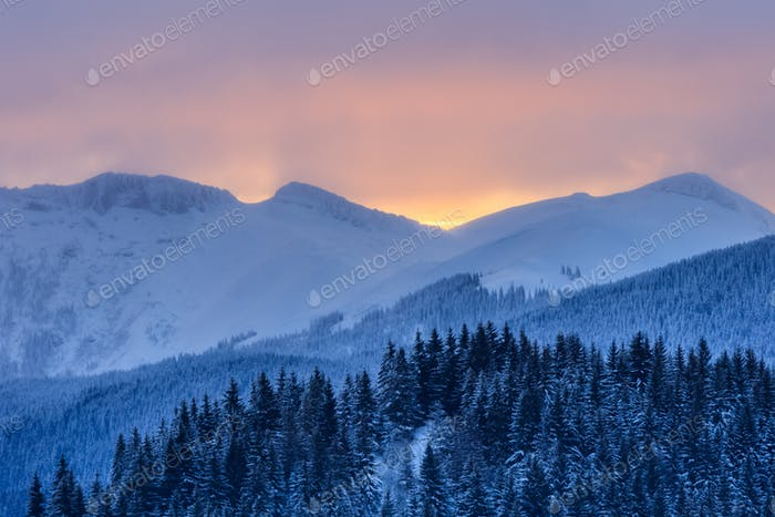 sunrise in Bucegi Mountains, Romania