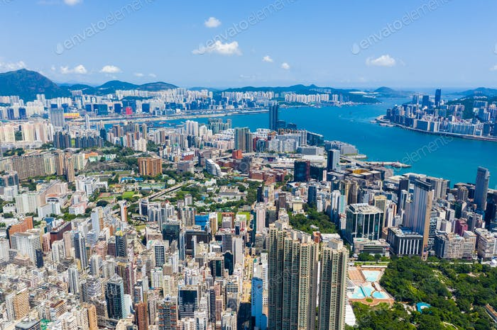 Hong Kong, 10 September 2019: Hong Kong city