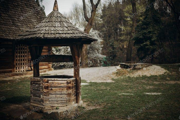 Traditional ukrainian water well