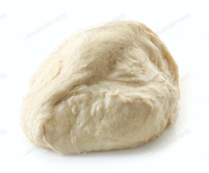 piece of fresh raw dough