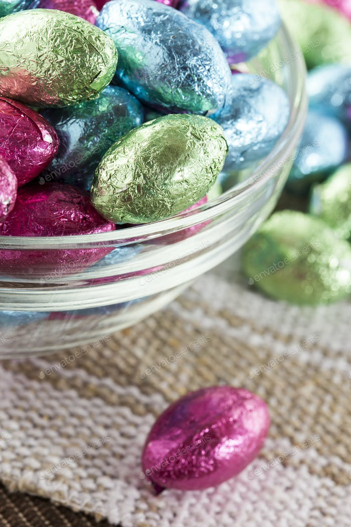 Colorful Chocolate Easter Egg Candy