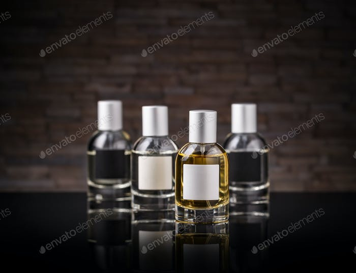 Perfume in a glass bottle