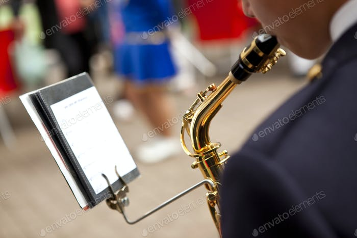 Man playing saxophone