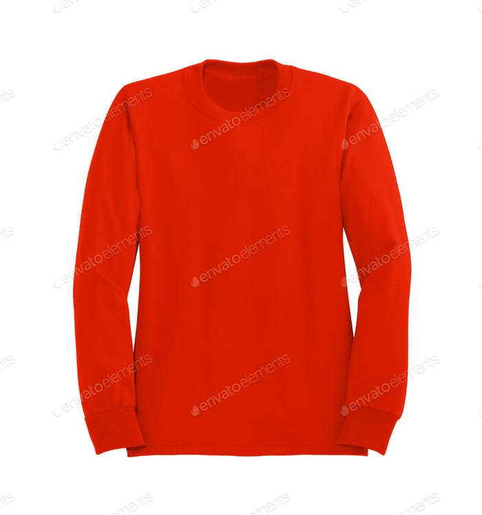 Red sweater isolated on white background