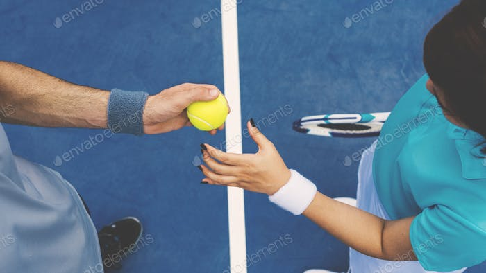 Tennis Palyer Training Match Game Lifestyle Concept