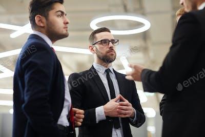 Men brainstorming