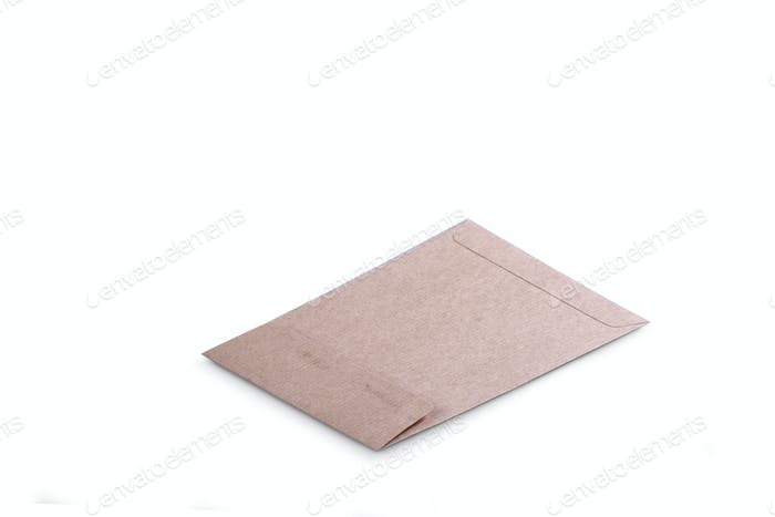 Brown Paper Envelope isolated