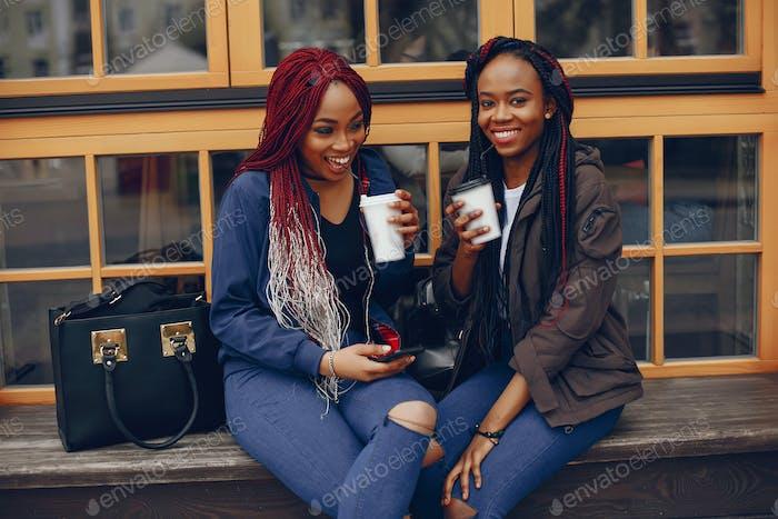 black girl in a city