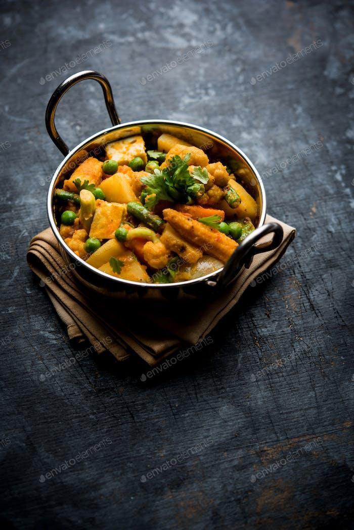 Gemischtes Gemüse Masala aus Indien