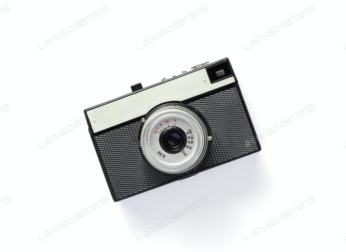 old retro photo film camera