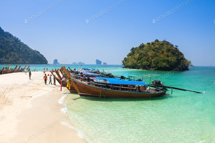 Tup Island  beach between Phuket and Krabi in Thailand
