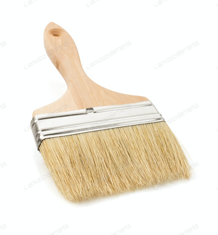 paintbrush on white background