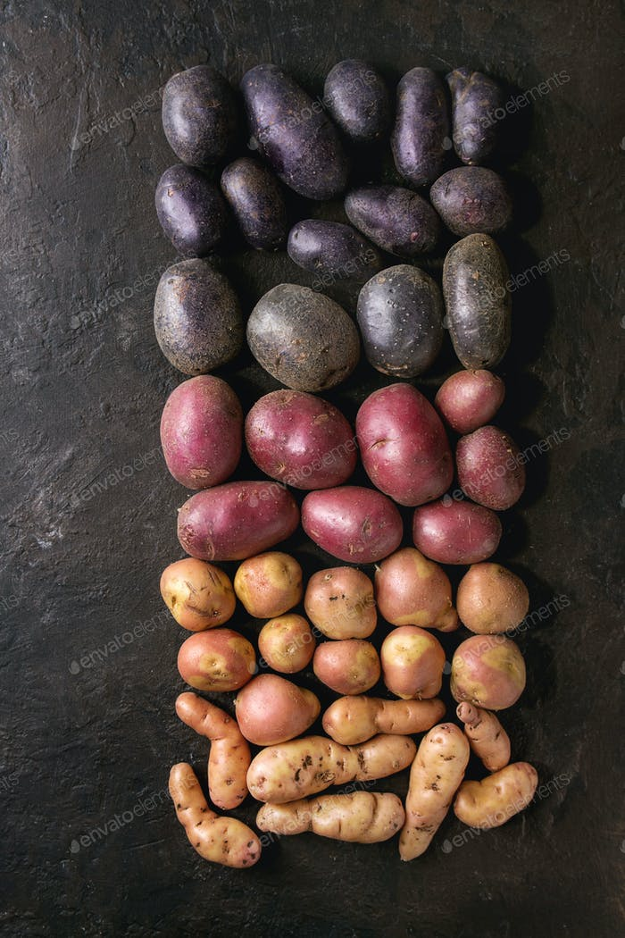 Thumbnail for Variety of raw potatoes