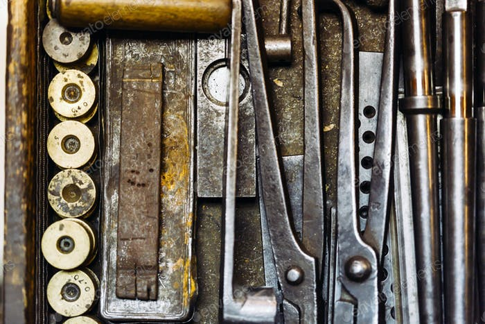 Herramientas Vintage oxidadas.