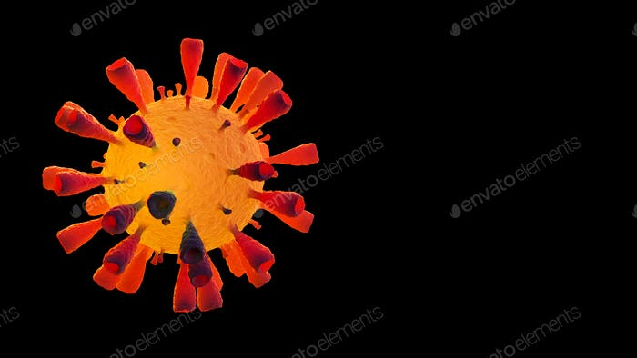 Image of Flu COVID-19 virus cell concept. Coronavirus Covid-19 influenza banner background