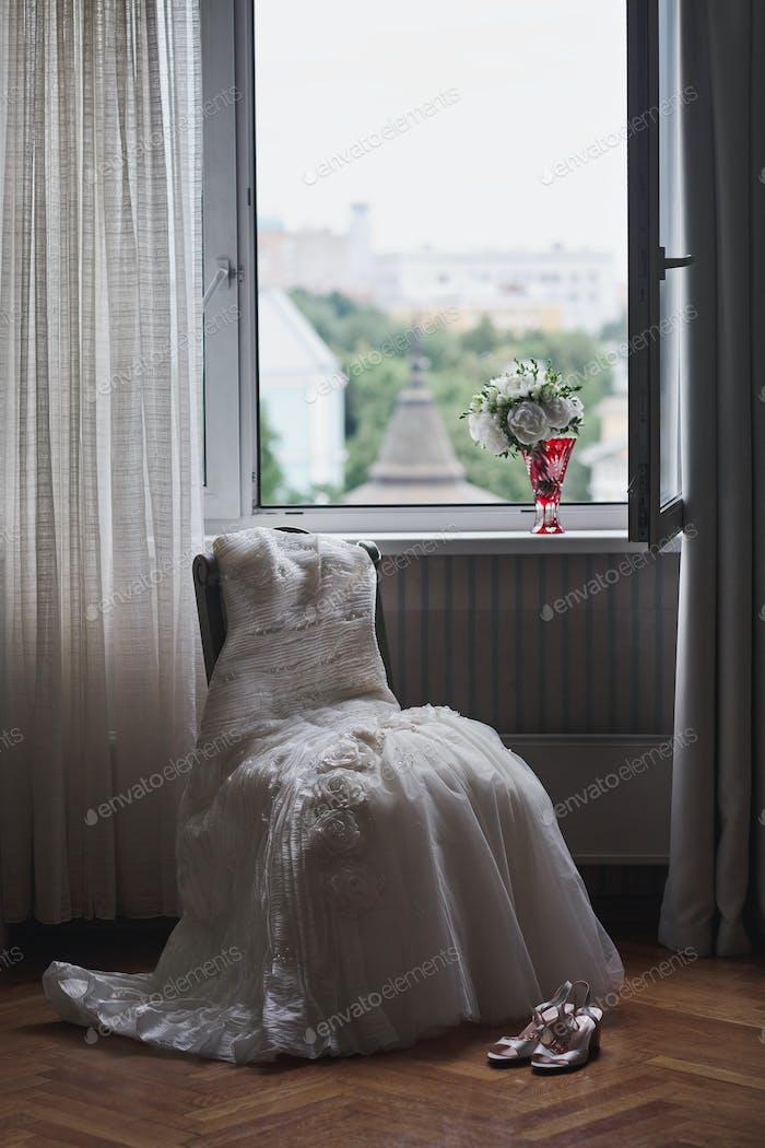 Preparation for the wedding celebration.