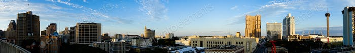 Thumbnail for San Antonio Skyline Wide Panoramic South Cantral Texas