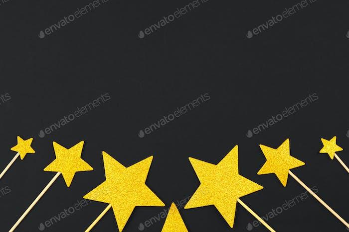decoración estrella dorada. Foto macro. Primer plano