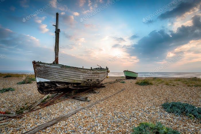 boote am strand in Kent