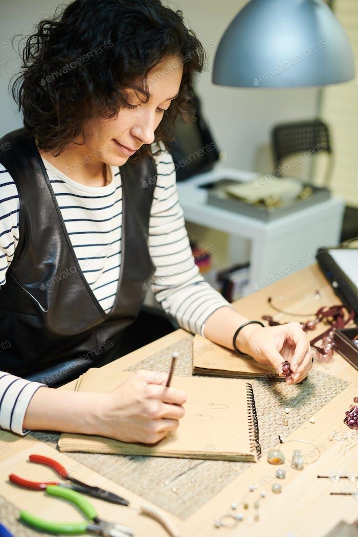 Artist Creating Jewelry