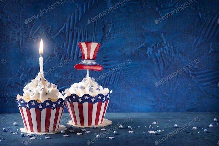 Patriotische Cupcakes 4. Juli