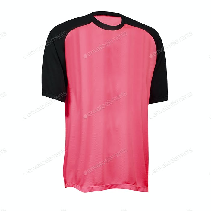 Kid pink tshirt on white background.