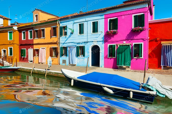 Colorful street on Burano