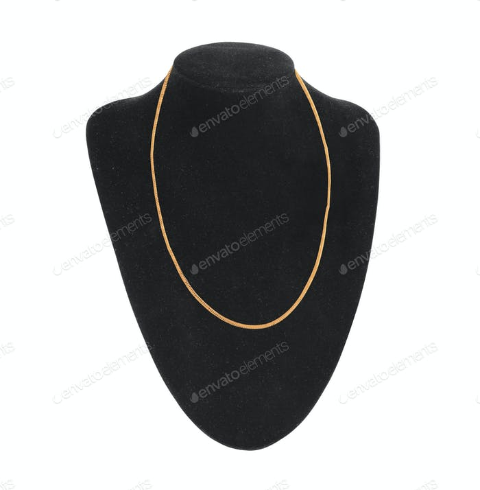 dummy neck for jewelry isolated