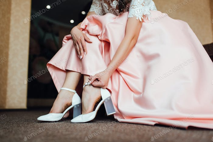 wedding shoes of the bride, beautiful fashion