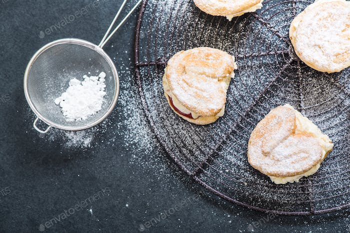 sweet pastry topped with sugar