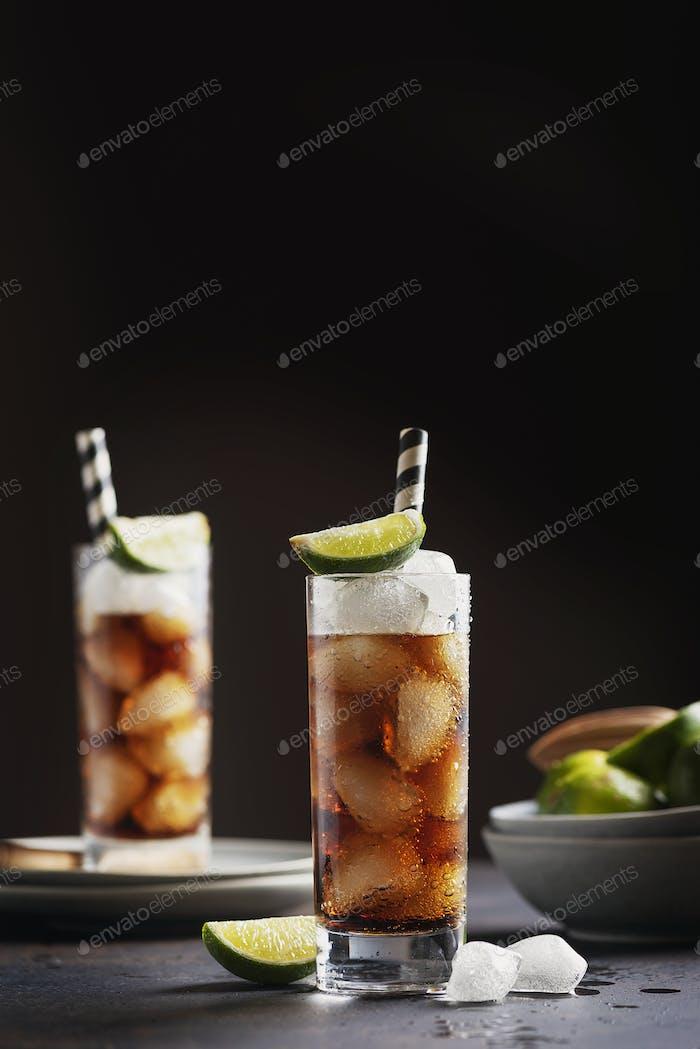Alcoholic cocktail cuba libre