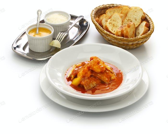 Bouillabaisse, Soupe de poisson, französische Marseille-Fischsuppe