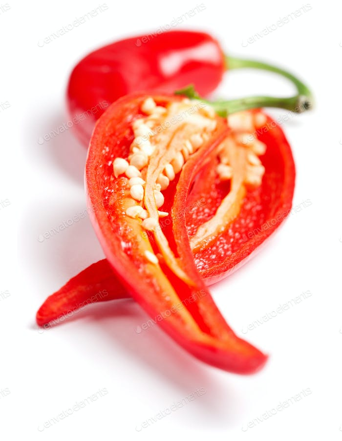 two red hot chilly peppers