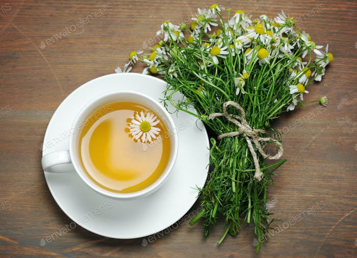 cup of chamomile tea