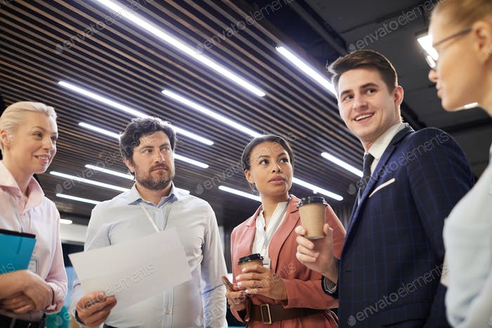 Business team standing at office