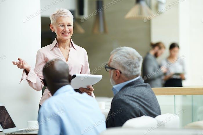 Senior Businesswoman Leading Training Seminar