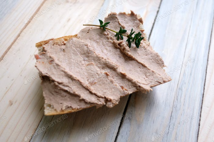 Pate from duck liver