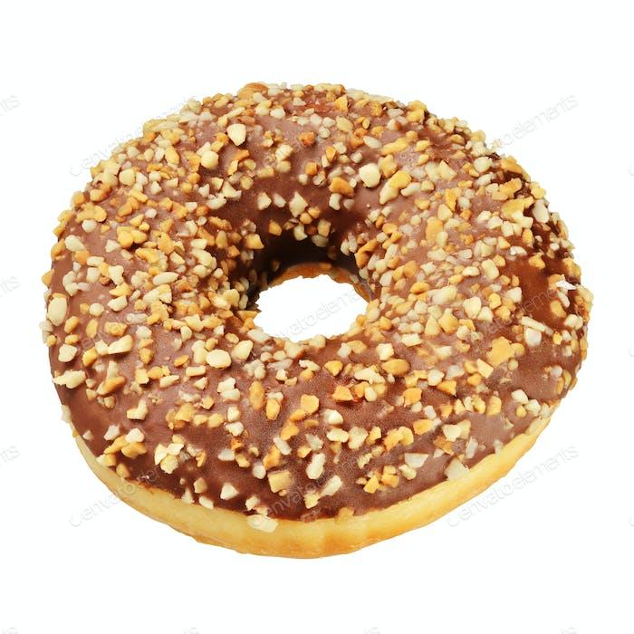 Peanut donut isolated