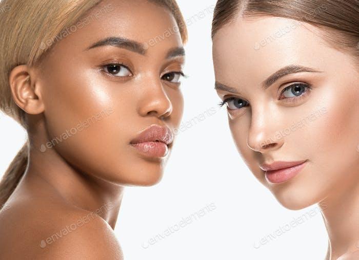Beauty-Gruppe Frauen gesunde Hautpflege ethnische Modell