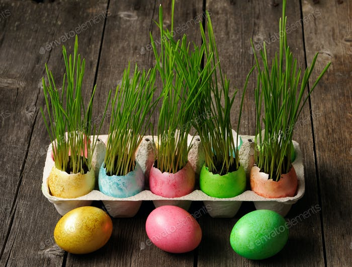 Huevos de Pascua de colores