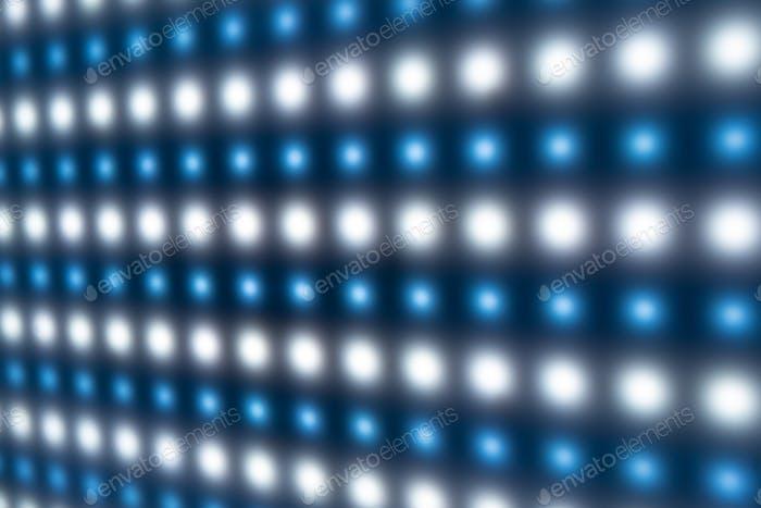Defokussierte Nahaufnahme des Panels mit hellen leuchtenden LEDs