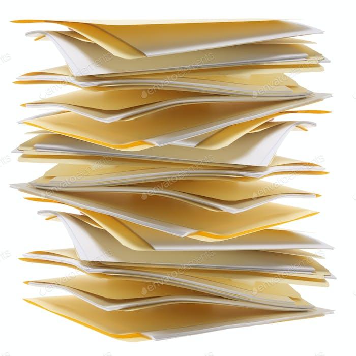 Stack of Manila Folders