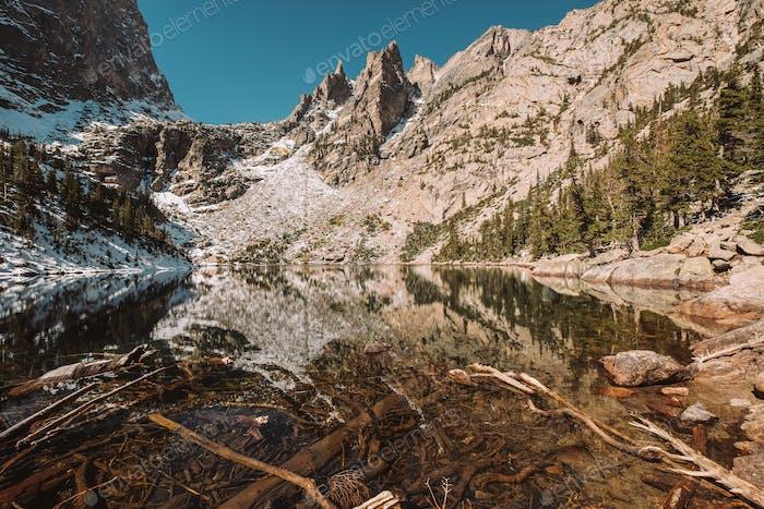 Emerald Lake, Rocky Mountains, Colorado, USA.