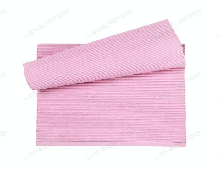 Rosa gewebtes Tischset aus Baumwolle