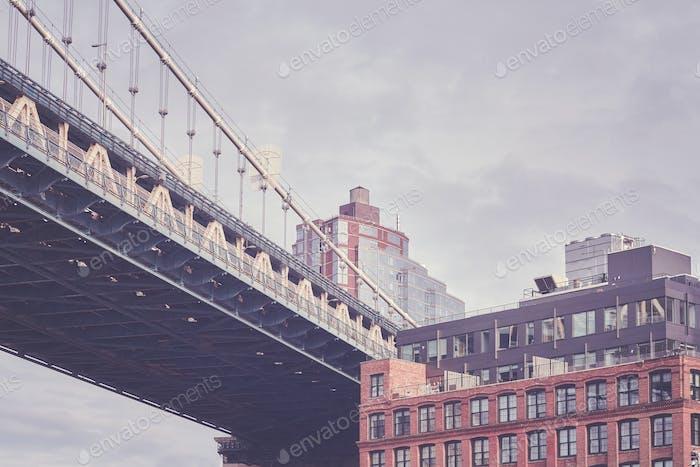 Under the Manhattan Bridge, New York City, USA.