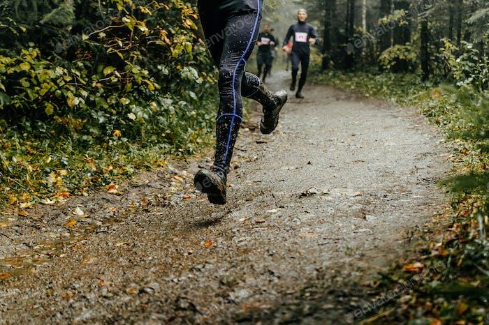 Athlet Runner läuft Marathon