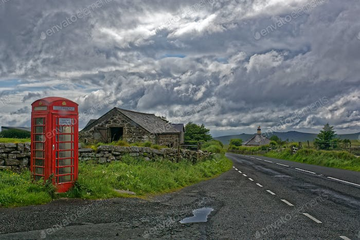 Old Red English Telephone Booth